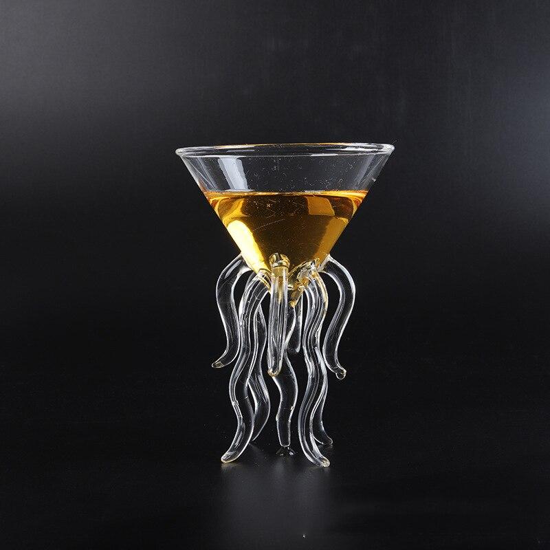 100ML Criativo Polvo Medusa De Vidro Cocktail copo de Vidro Transparente Xícara de Suco de Vidro Cônico Taça Taça de Champanhe Taça de Vinho