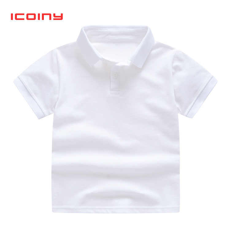 Summer Polo Shirts for Boys White Polo Tops Children Solid Color Polo Short Shirts Toddler 2 3 4 5 6 7 8 Y Baseball Tees Shirts