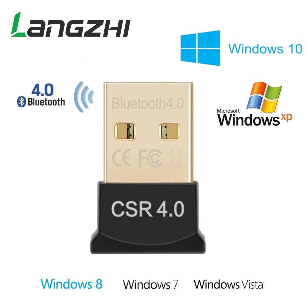 Langzhi Draadloze USB Bluetooth Adapter APTX Voor PC Bluetooth 4.0 Dongle Audio Ontvanger Bluetooth Zender Voor 10/8/XP/Vista