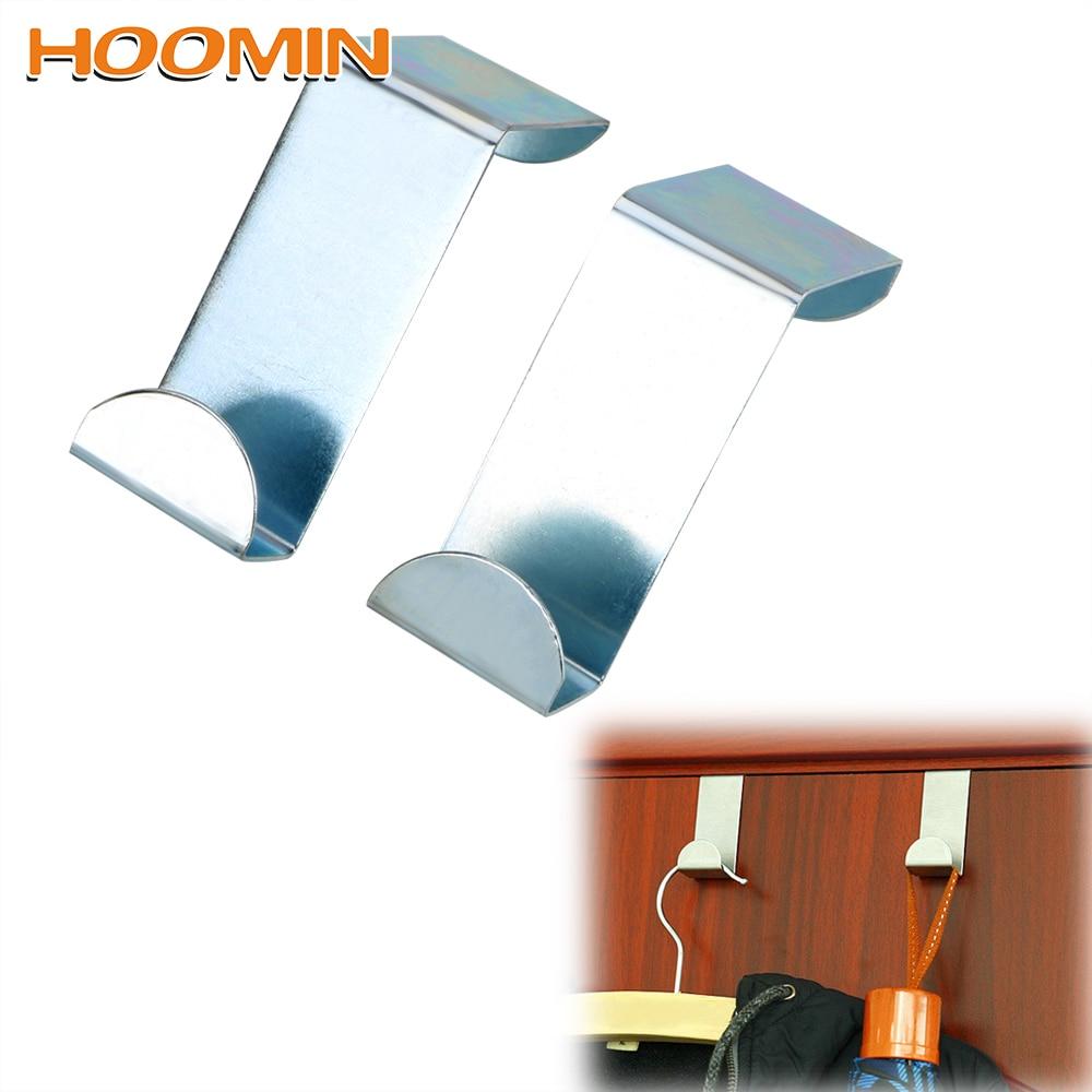 2Pcs/Set Coat Storage Holder Hook Hat Bag Organizer Stainless Steel  Door Straps Hanger Hooks Home Kitchen Cabinet Wall Door