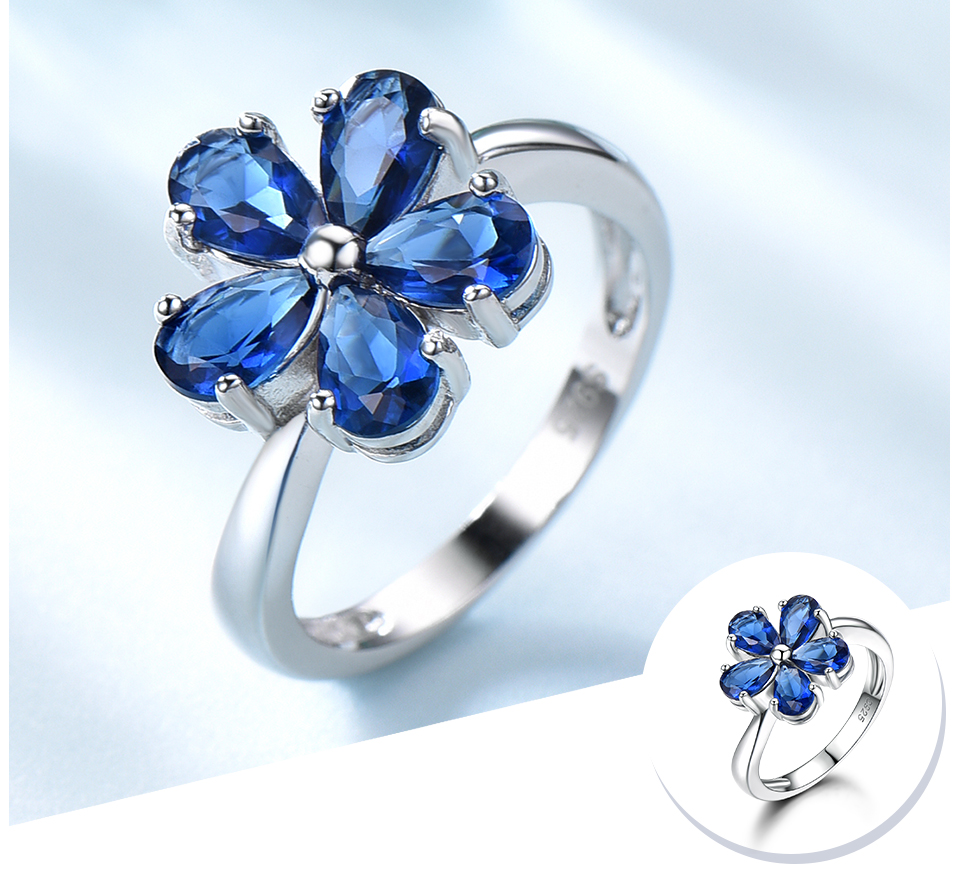 UMCHO Created Nano Sapphire 925 sterling silver rings for women EUJ091S-1-pc (4)