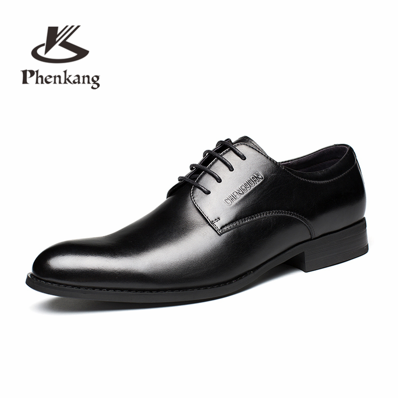 Mens formal shoes leather oxford shoes for men dressing wedding mens brogues office shoes lace up male zapatos de hombreMens formal shoes leather oxford shoes for men dressing wedding mens brogues office shoes lace up male zapatos de hombre