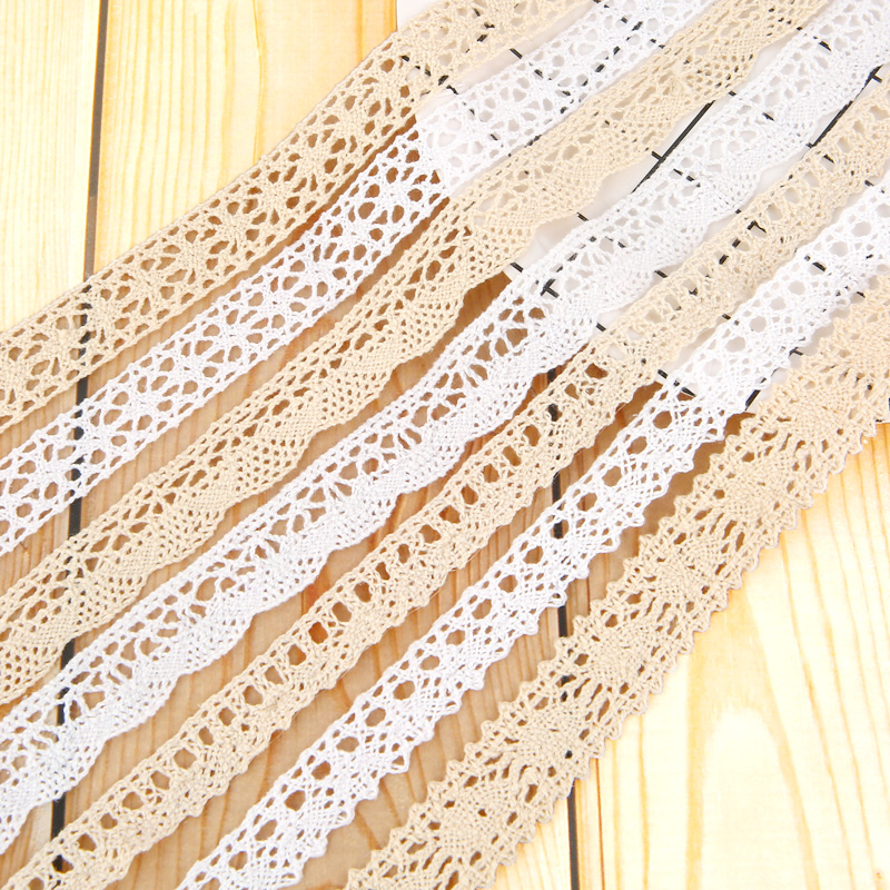 Vrious style Cotton Embroidered Lace Net Ribbons Fabric Tulle Trim Material Craft For Diy Apparel Sewing Accessories