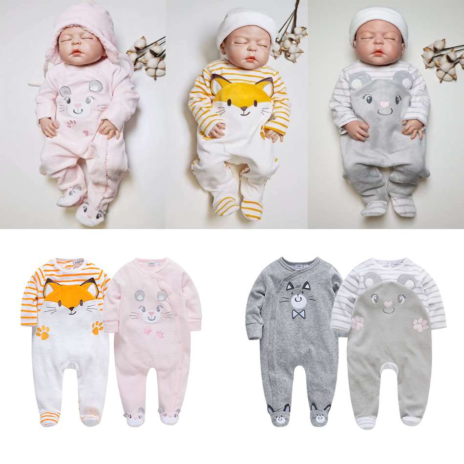 Kavkas Brand New Newborn   Rompers   Toddler Infant Baby Boys   Romper   Long Sleeve Jumpsuit Playsuit Little Boy Outfits Gray Clothes