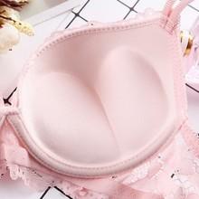 Women Lace Underwear Set Padded Push Up Bra Set Panties +Bra Underwear