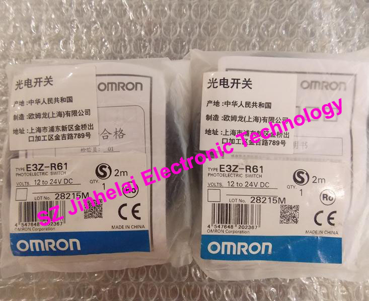 New and original E3Z-R61   OMRON Photoelectric switch  12-24VDC    2M 100% new and original e3x na11 e3x zd41 omron photoelectric switch 12 24vdc 2m
