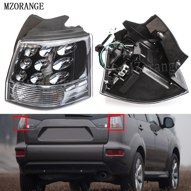 MZORANGE 1 Piece Rear Outer Outside Brake Light Tail light Lamp 8330A396 Left/Right for Mitsubishi Outlander EX 07-13 With Bulb oem 8330a396 rear tail light outer brake stop lamp right rh left lh for mitsubishi outlander ex 07 13 car accessories