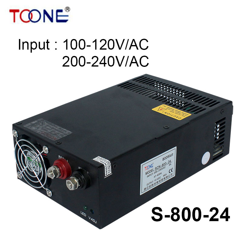 S-800-24 DC Power Supply 24v 800w Switching power supply 33A Indoor Led Driver 110V/220V ac dc 24v nelson mandela pre intermediate level 2 cd rom