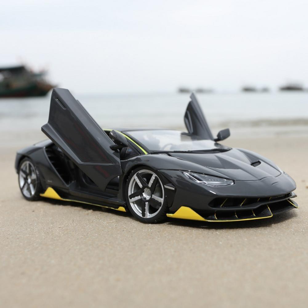 Pour Lamborghini LP770-4 voiture de sport modèle 1:18 simulé alliage voiture jouet décoration de la maison Non-télécommande véhicule jouet