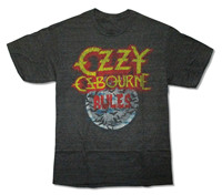 Gildan OZZY MOON RULES HEATHER BLACK T SHIRT NEW OFFICIAL ADULT METAL ROCK BAND MUSIC Create