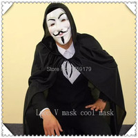 One set New V For Vendetta Anonymous Movie Guy Fawkes Vendetta Mask Halloween Cosplay mask with cloths hot sale