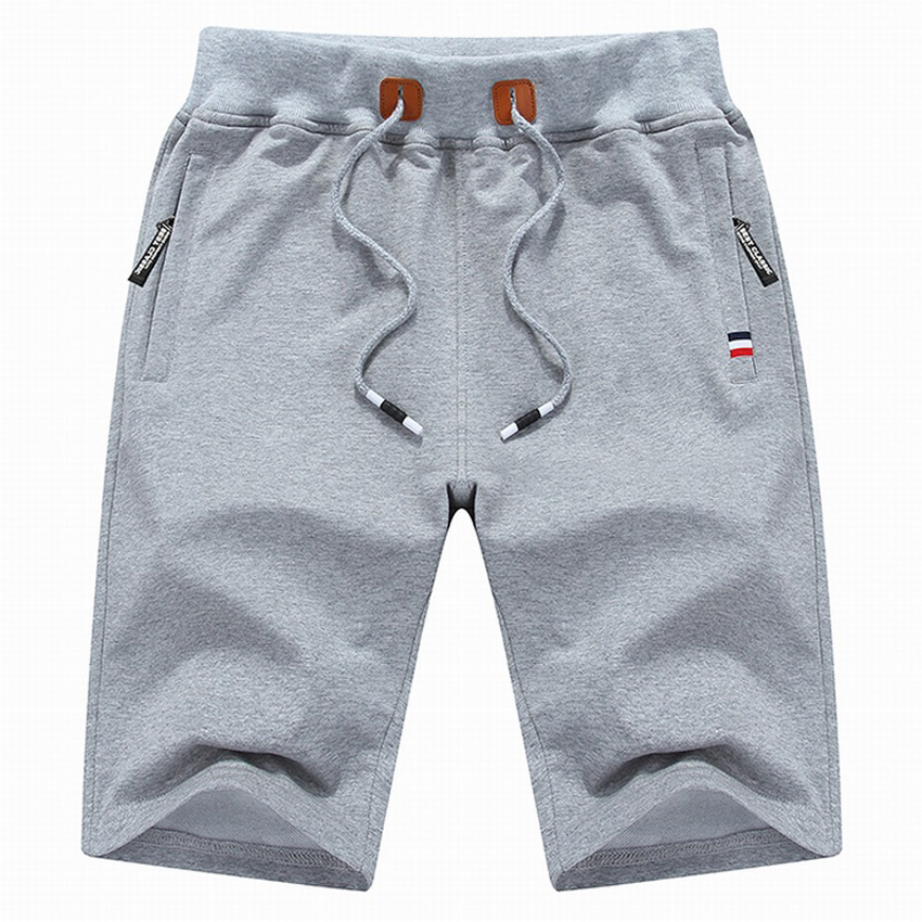 2019 Solid Men's Shorts 6XL Summer Mens Beach Shorts Cotton Casual Male Shorts Homme Brand Clothing SA210
