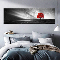 Modern Type HD Print Black And White Red Trees Poster Art Canvas Painting Picture Wall Home Decoration For Living Room