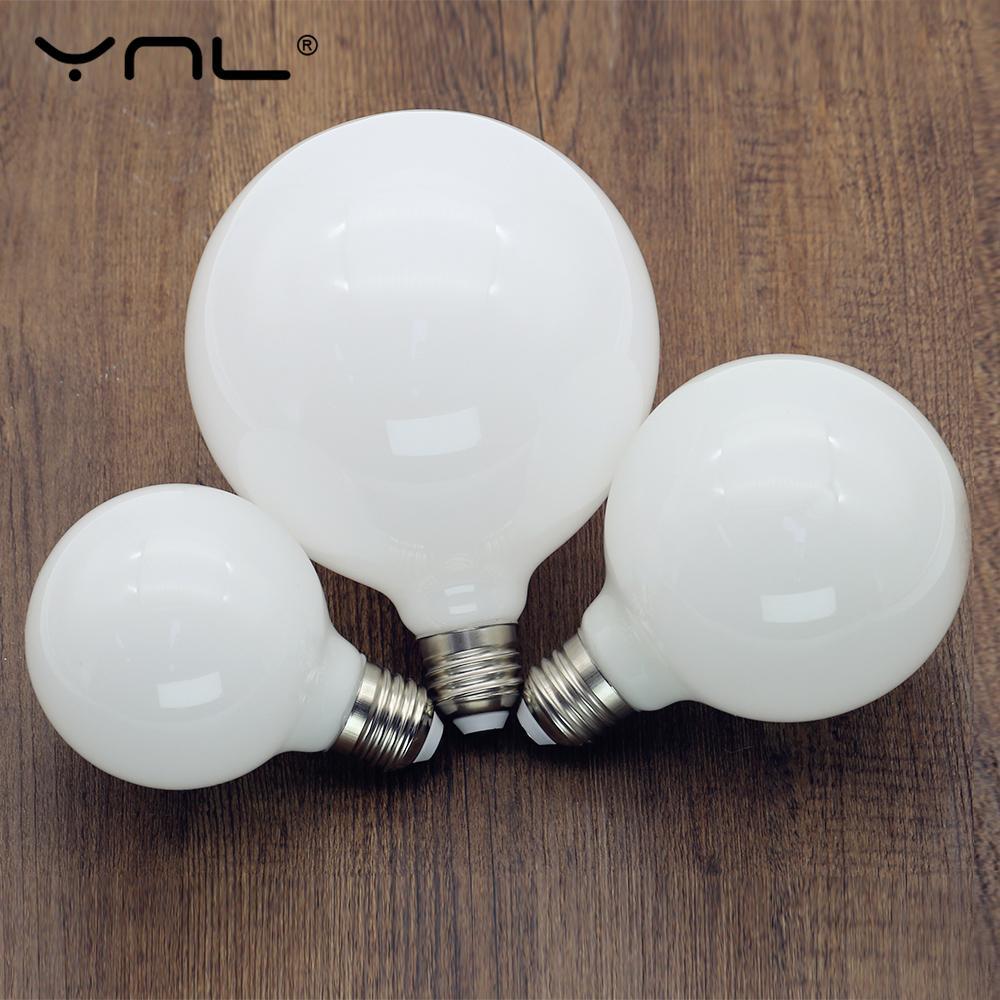 Светодиодный светильник молочного цвета E27 220V 110V Lampara G80 G95 G125 Ampoule Bombilla светодиодный светильник холодный белый теплый белый для подвесного с...