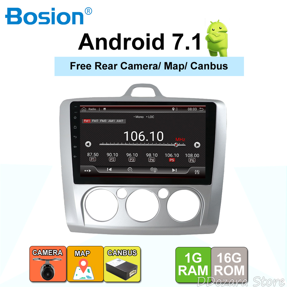 Android 7.1 Car Radio Multimedia Player For Ford Focus Mk2 Mk3 2004 2005 2006 2007 2008 2009 2010 2011 GPS Navigation Camera