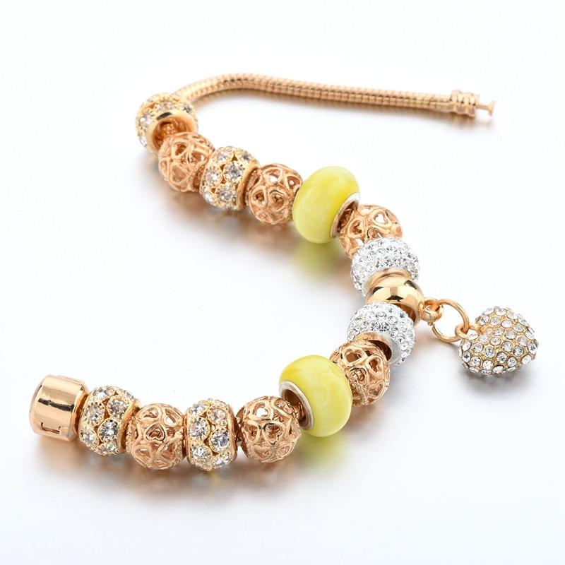 Crystal Heart հմայքը Ապարանջաններ կանանց - Նորաձև զարդեր - Լուսանկար 4