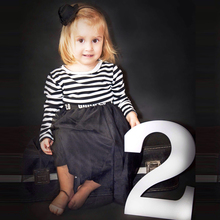Wooden Numbers Birthday Photo Props Digital Signs 0-9 Birthday Photo Props Photo Props