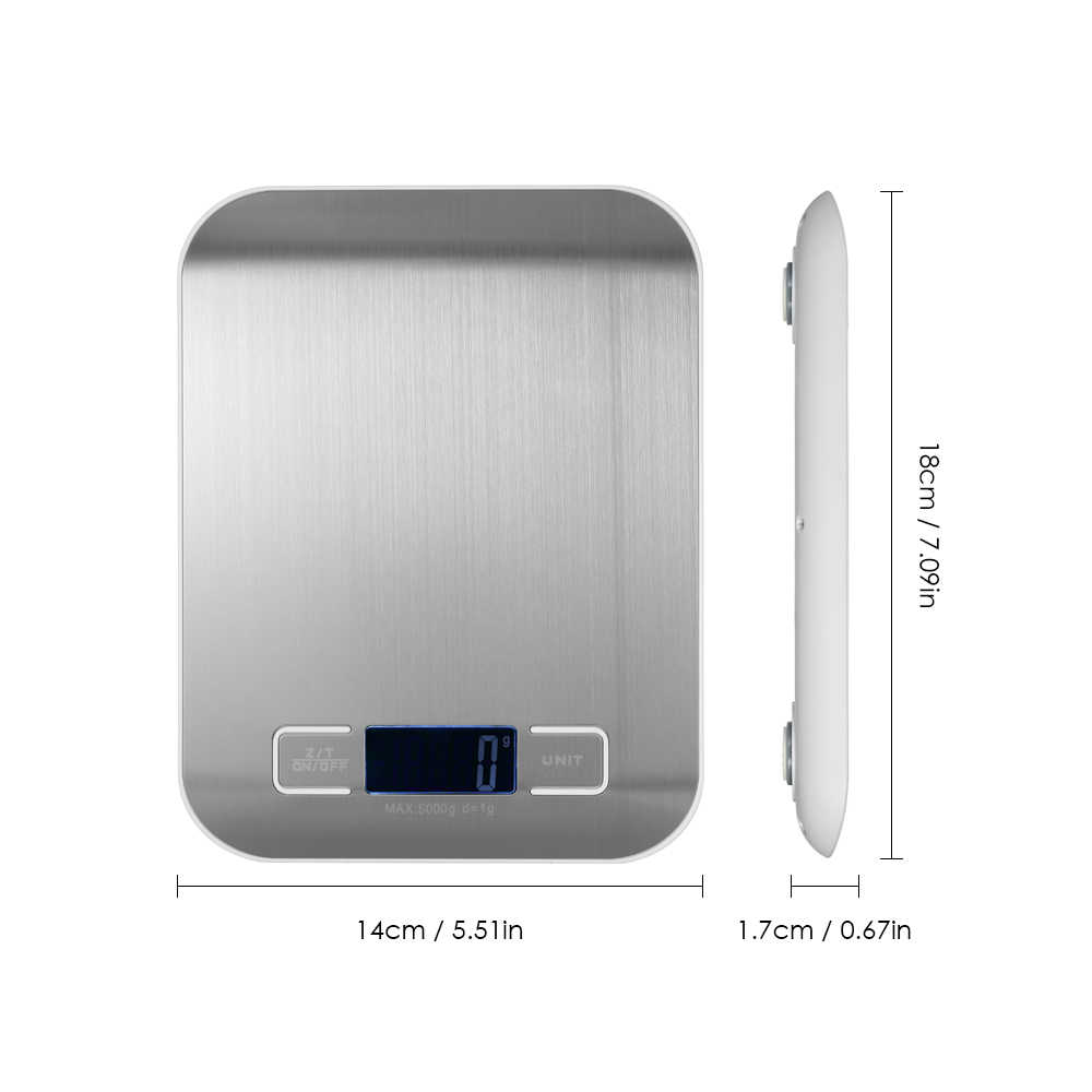5000g/1g 10 kg/g مصغّر إلكترونيّ ميزان مطبخ مقياس رقمي مقياس مجوهرات جيبي ميزان طعام