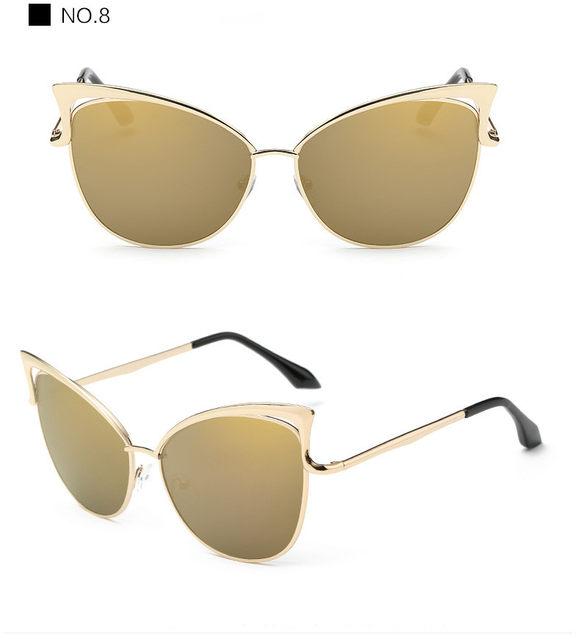 Luxury Cat Eye Sunglasses Women Brand Designer Retro Vintage Sun Glasses For Women Female Ladies Sunglass Mirror Lunettes Oculos (19)