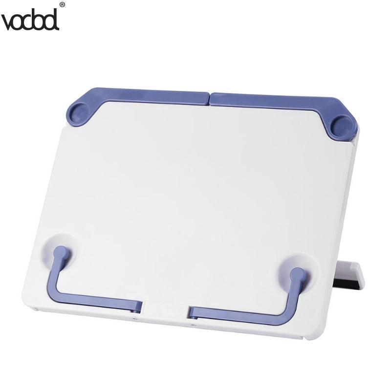 VODOOL Portable Book Holder Shelf Reading Stand Books Document Recipe Shelf Folding Cookbook Tablet Holder Organizer Rest Rack