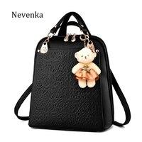 Nevenka Luxury Backpack Women Bags Designer Teenager Girls Satchels Women Fashion Solid Backpacks PU Leather Bags