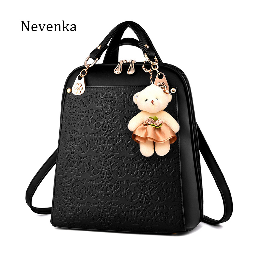 Nevenka Luxury Backpack Women Bags Designer Teenager Girls Satchels Women Fashion Solid Backpacks PU Leather Bags Softback 2018 tangimp drawstring backpacks embroidery dear my universe cherry rocket printing canvas softback man women harajuku bags 2018
