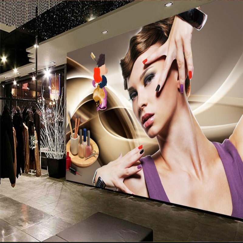 Beibehang Custom 3d Wallpaper Murals Beauty Salon Manicure Beauty Poster Tooling Wall Paper Living Room Bedroom Tv Background
