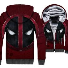 DEADPOOL 3D Hoodies For Men 2018 Autumn Winter Fleece Sweatshirts Male Hip Hop Streetwear Super Hero Mens Hoodie Jackets
