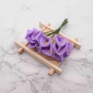 Image 5 - 144pcs מיני קצף כלה לילי מזויף פרחים זר פרחים מלאכותיים לקישוט חתונה חג אהבת קישוט הווה. ש