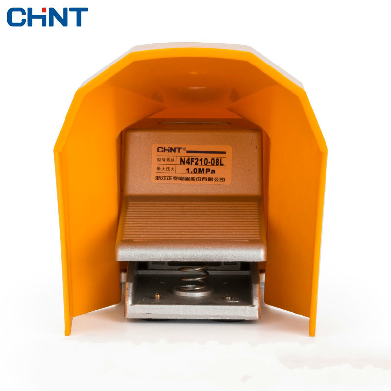 CHINT Pneumatic Foot Switch Two Position Five 4F210-08 Foot Valve Foot Valve Switch 2 Zoning Shell high quality foot valve port 1 4 4f210 08g with cover manual plastic valve two position five way