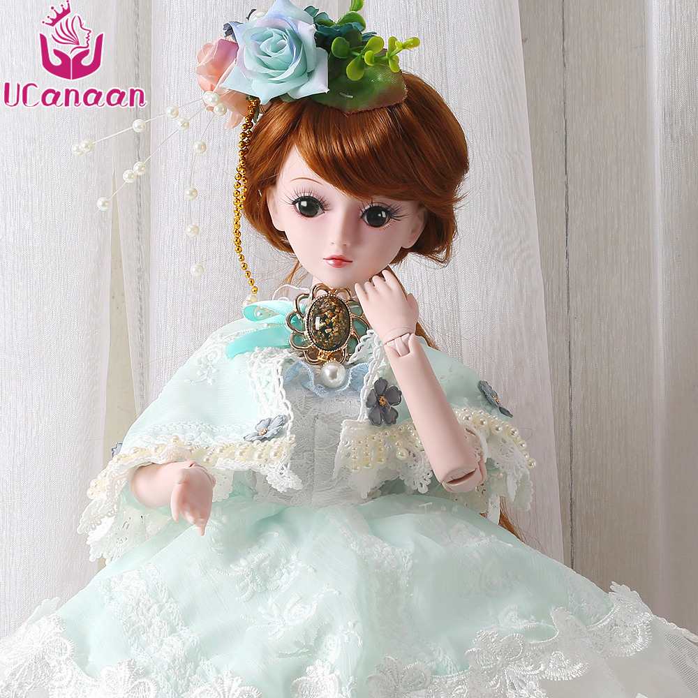 UCanaan 60cm Large BJD Doll Toys Cosplay Rapunzel Dress Wig Clothes Shoes Makeup SD Doll Princess Resin Joints Toys For Girls аксессуары для косплея no 60cm cosplay