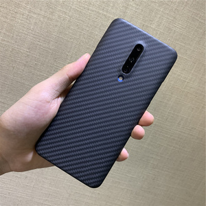 Image 2 - Aramid fiber Back Cover For OnePlus 7 Pro Protective Case 7T 8 nord carbon Cases and covers Nylon bumper Official Design