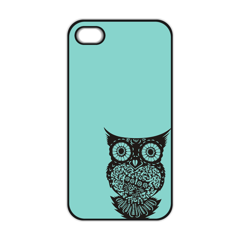 Owl On Mint Tree Cover Case for iPhone 4 4S 5 5S 5C SE 6 6S 7 Plus Samsung Galaxy S3 S4 S5 Mini S6 S7 S8 Edge Plus A3 A5 A7