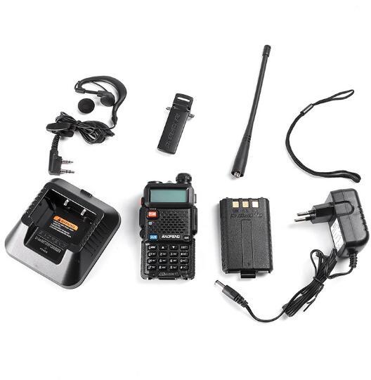 128CH 5W VHF UHF 136 174Mhz & 400 520Mhz two way Radio BF UV5R Professional CB radio station Walkie Talkie Baofeng BFUV5R