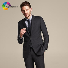 Smart Casual Black Men Suit Wedding Suits Groom Blazer Tailored Made Slim Fit Formal Tuxedo Best Man 2018 Costume Homme 2 Pieces