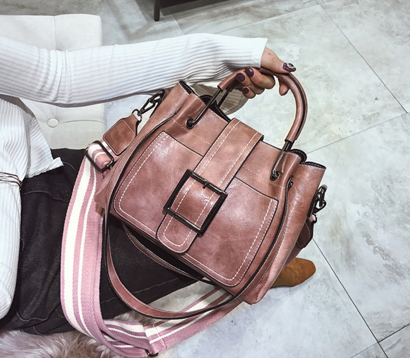 New European and American style vintage PU women handbag shoulder bag messenger bag 82