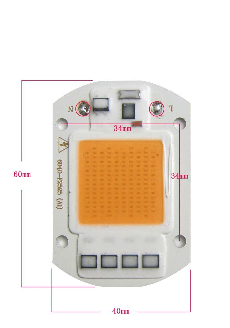5 шт./лот гидропоники Освещение трансформатор Бесплатная растет свет 30 Вт AC110V ~ 220 В полный спектр COB Лампы для мотоциклов для растений
