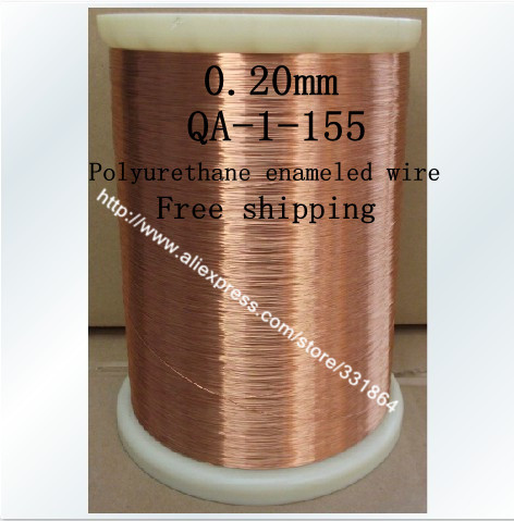 Free shipping 0.2mm *500m QA-1-155 Polyurethane enameled Wire Copper Wire enameled Repair cable купить в Москве 2019