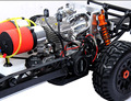 Баха 60сс RC автомобиль мощный двойной двигатели красный