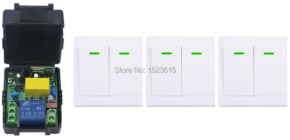 New digital Remote Control Switch AC220V Receiver+3* Wall Transmitter Wireless Power Switch 315MHZ Radio Controlled Switch Relay