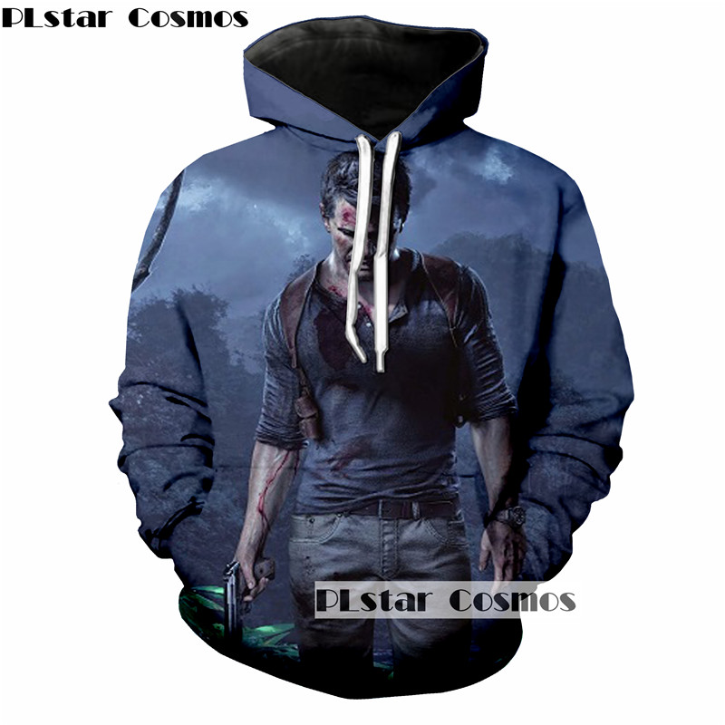 PLstar Cosmo Uncharted Print 3d Hoodies Men/Women Sweatshirt Hooded Pullover Hip Hop Punk Tracksuit size S-5XL drop shipping