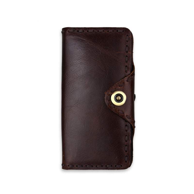 Klsyanyo 100% Genuine Leather Wallet Women Long Vintage Cow Leather Casual Purse Brand Design High Quality Wallet Men Clutch Bag brand design men luxury individuality vintage long wallet skull style genuine cow leather purse men s clutch handy phone bags
