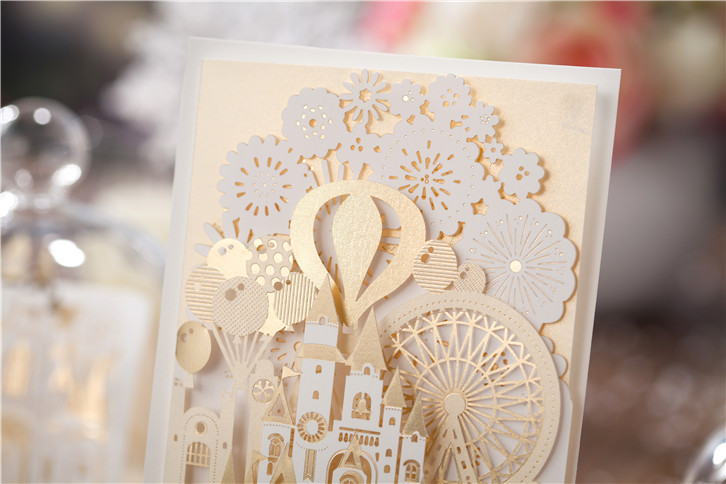 Wishmade 2d gold castle design wedding cards laser cut invitation wishmade 2d gold castle design wedding cards laser cut invitation cards cw5093 in cards invitations from home garden on aliexpress alibaba group stopboris Image collections