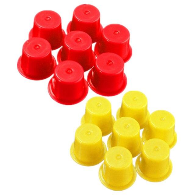 200PCS Small Size 8mm Mixed Colors Plastic Tattoo Ink Cap Cups Supply