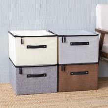 2018 Новый нетканый ящик для хранения одежды с молнией Складной Домашний Органайзер для ткани отделочный ящик большой стёганый ящик для хранения игрушек