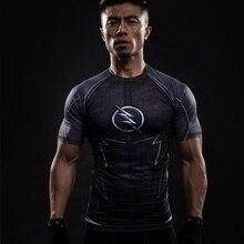 Чудо флэш компрессионная рубашка Капитан Америка тренажерный зал майка MMA мужская с коротким рукавом Топ Футбольная форма бег плотная футболка