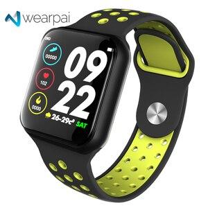 Image 1 - Reloj inteligente Wearpai F8 para hombre IP67, dispositivo impermeable para llevar, Monitor de ritmo cardíaco, pantalla a Color, relojes deportivos para Android IOS