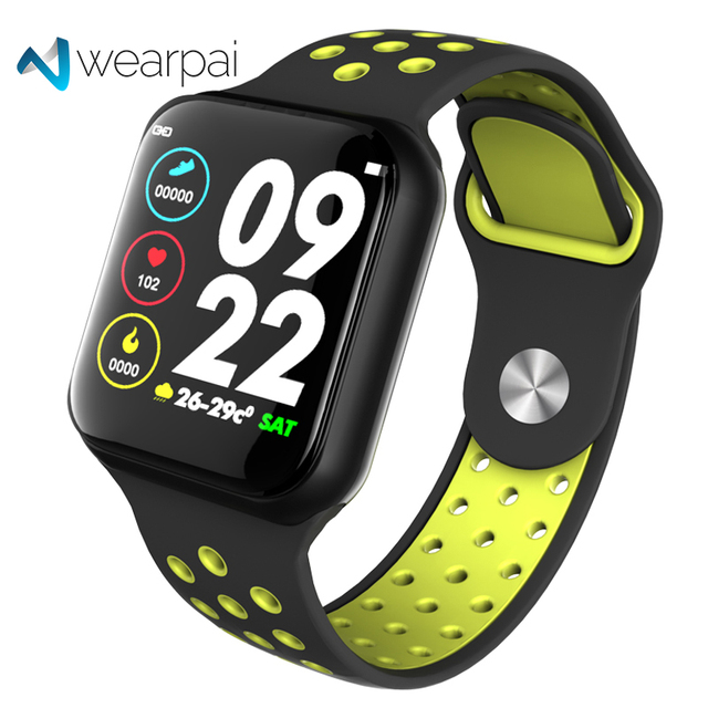 Reloj inteligente Wearpai F8 para hombre IP67, dispositivo impermeable para llevar, Monitor de ritmo cardíaco, pantalla a Color, relojes deportivos para Android IOS