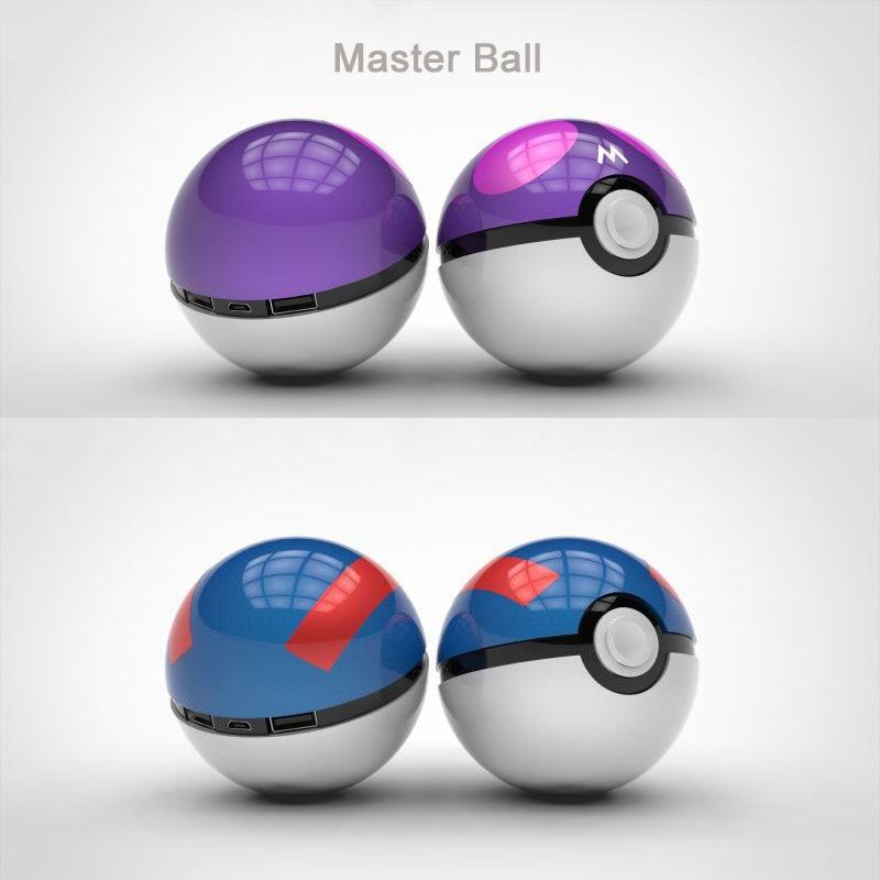 Original Master Ball Power Bank Pokeball Power Bank 12000 mAh for All Mobile Phone Portable External Battery Poke mon Ball