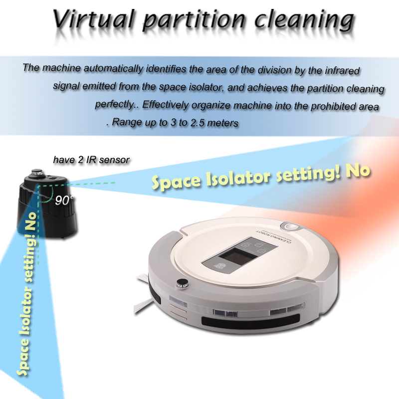 A325 Robotic Vacuum Cleaner With 2 Ir Sensor Space Isolator Uv Sterilize Auto Recharge Full Go Vacuum Cleaner Robot Aspirador
